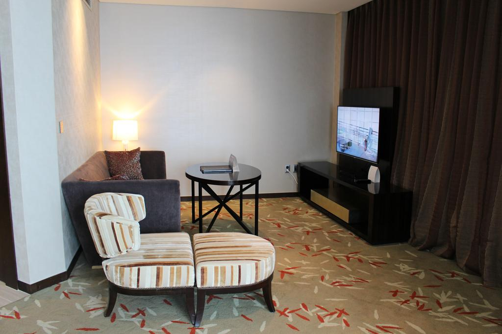 Hotel Oakwood Premier Incheon, South Korea – Booking Intended For Oakwood Linen Style Decorative Curtain Tier Sets (View 26 of 30)