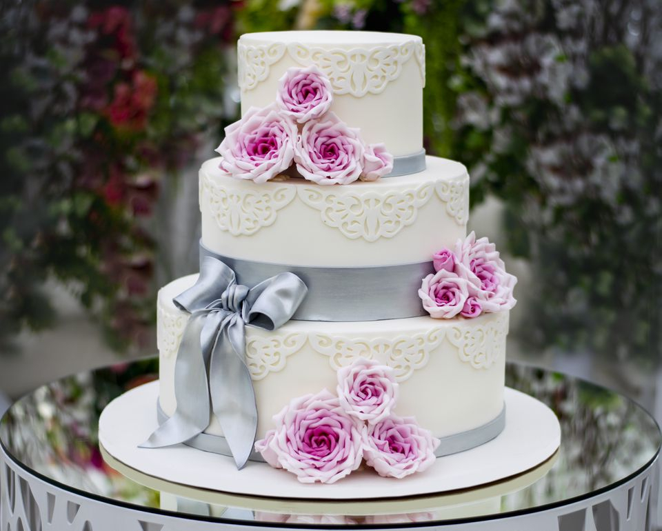 How To Bake And Decorate A 3 Tier Wedding Cake In Touch Of Spring 24 Inch Tier Pairs (#11 of 30)