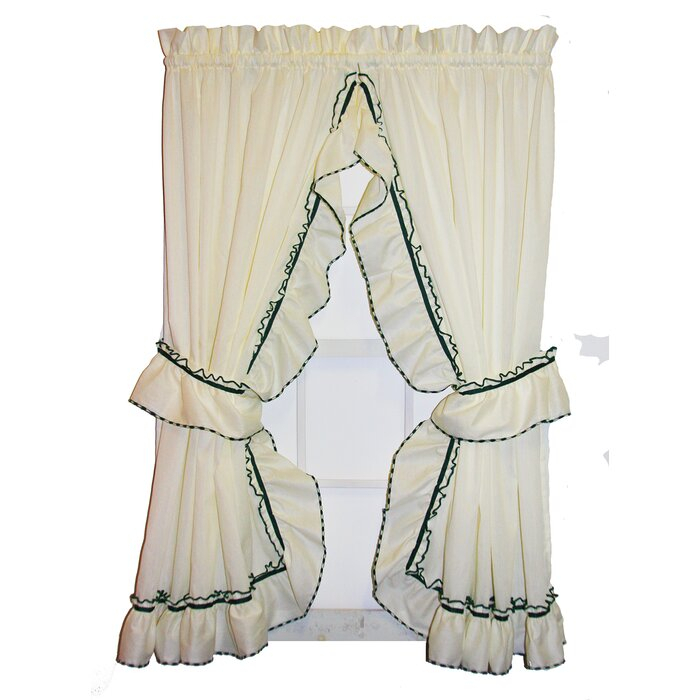 Hower Ruffled Priscilla Semi Sheer Rod Pocket Curtain Panels With Regard To Elegant Crushed Voile Ruffle Window Curtain Pieces (View 26 of 45)