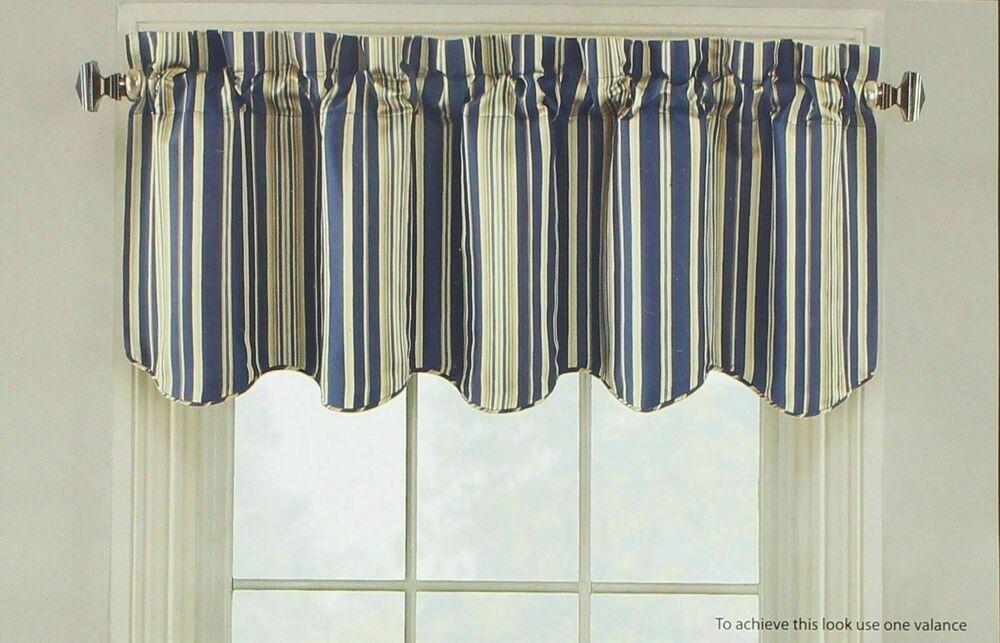 Hudson Elite Lined Window Valance In Navy | Ebay Inside Hudson Pintuck Window Curtain Valances (View 12 of 30)
