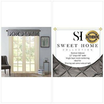 "Hudson Pintuck Window Curtain Panel Pair 63""x38"" – $ (View 13 of 30)"