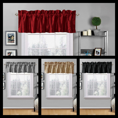 "Hudson Pintuck Window Curtain Valance 12""x60 – $ (View 23 of 47)"