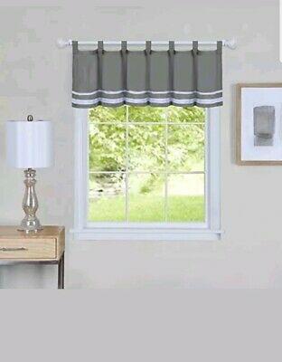"Hudson Pintuck Window Curtain Valance 12""x60 – $ (View 18 of 30)"