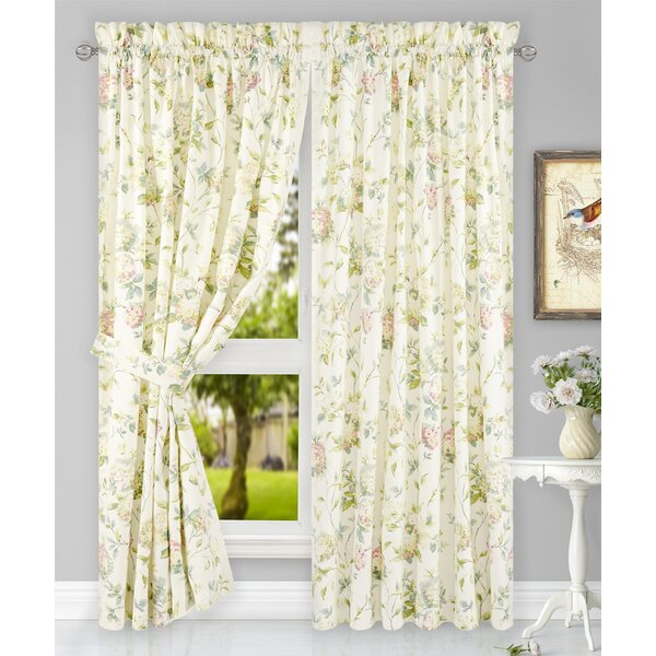 Hydrangea Curtains   Wayfair With Regard To Floral Watercolor Semi Sheer Rod Pocket Kitchen Curtain Valance And Tiers Sets (View 16 of 50)