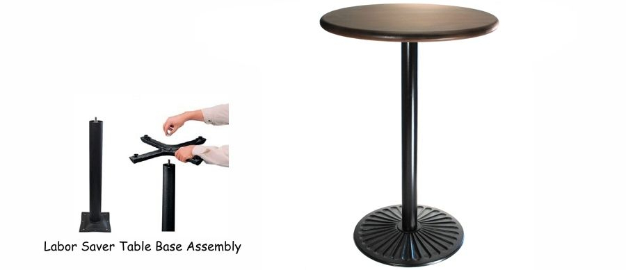 Inspiration about Icarus Round Bar Tables Intended For Fashionable Ornate Cast Iron Sunbeam Radial Design Bar Table Base – $179 (#3 of 20)
