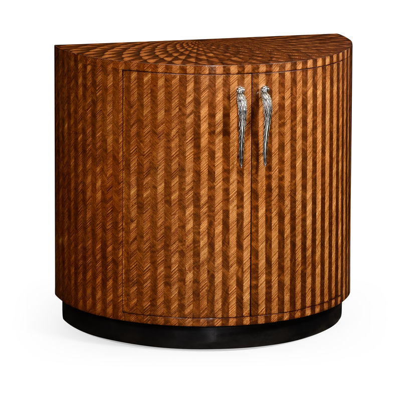 Icarus Round Bar Tables Throughout Widely Used 494958 Zeb Jonathan Charles Contemporary/modern Jc Modern – Icarus  Collection Feather Inlay Cocktail Cabinet (#11 of 20)