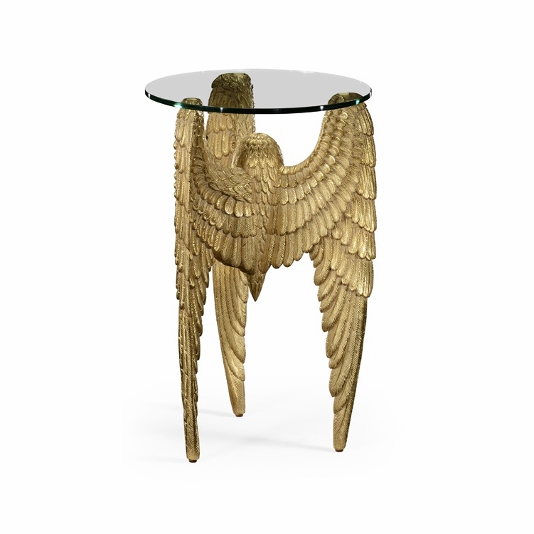 Icarus Round Bar Tables With Current Jonathan Charles Fine Furniture – Icarus Three Winged End Table – 494982 Gil (#12 of 20)