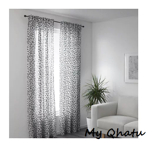 """Inspiration about Ikea Sommar 2018 Curtains Black & White 98""""x 57"""" 1 Pair 303.893.44 Inside Classic Black And White Curtain Tiers (#39 of 50)"""