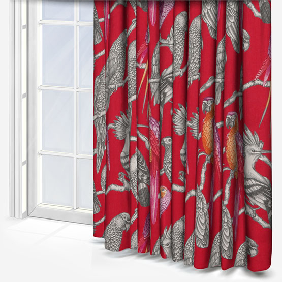 Iliv Aviary Pomegranate Curtain | Roman Blinds Direct With Regard To Aviary Window Curtains (View 19 of 30)