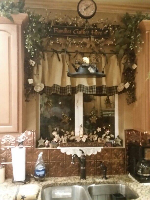 Inspiration about I'm Obsessed With Burlap Curtains | Country Decor Kitchen Inside Primitive Kitchen Curtains (#6 of 30)