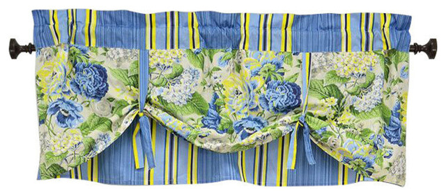 Inspiration about Imperial Dress Porcelain Window Valance Regarding Imperial Flower Jacquard Tier And Valance Kitchen Curtain Sets (#28 of 46)