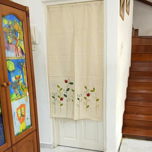 In Stock Embroidery Japanese Door Curtain Partition Fengshui With Regard To Embroidered Ladybugs Window Curtain Pieces (View 16 of 50)