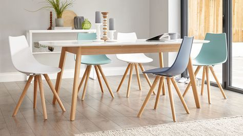 Ingred Extending Dining Tables With Regard To Most Popular Aver Oak And White Extending Dining Table In (View 8 of 20)