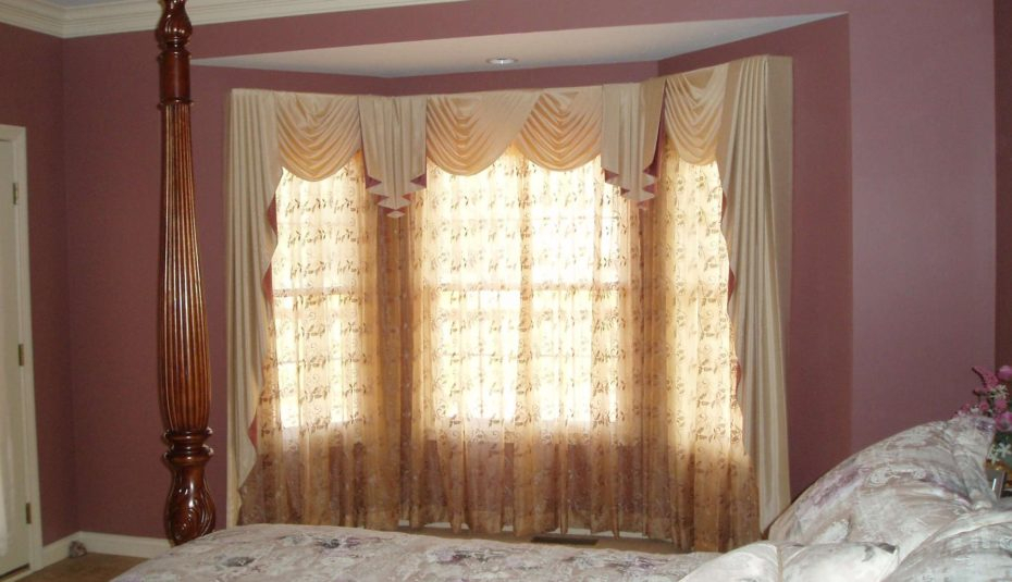 Interiors Window Coverings Ideas For Bow Windows Blinds With Regard To Medallion Window Curtain Valances (#24 of 48)
