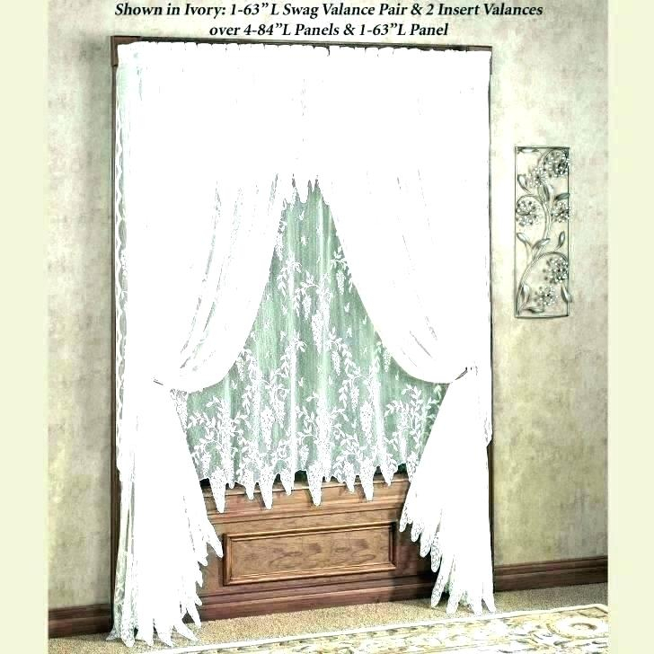 Inspiration about Ivory Lace Curtains – Shopsilver.co Inside Ivory Knit Lace Bird Motif Window Curtain (#40 of 50)