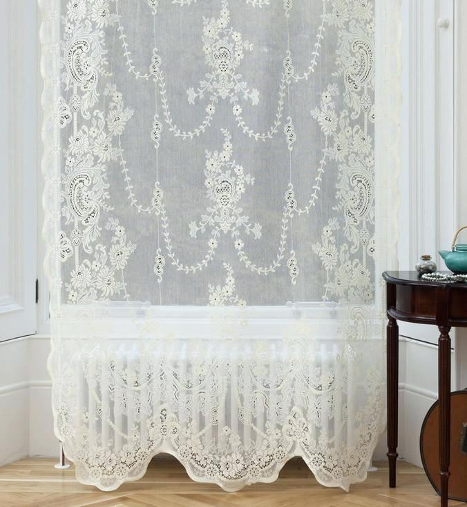 Inspiration about Ivory Lace Curtains – Shopsilver.co With Ivory Knit Lace Bird Motif Window Curtain (#36 of 50)