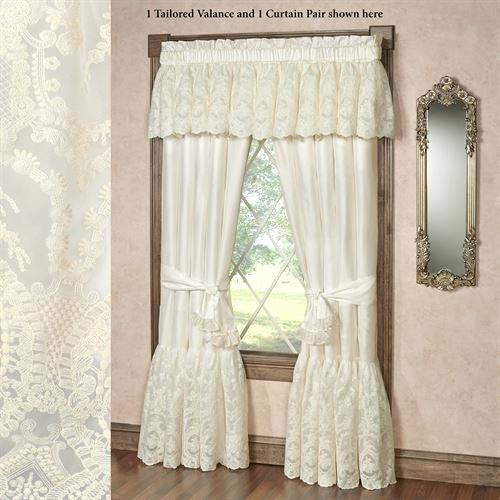 Ivory Lace Curtains – Shopsilver (View 16 of 50)