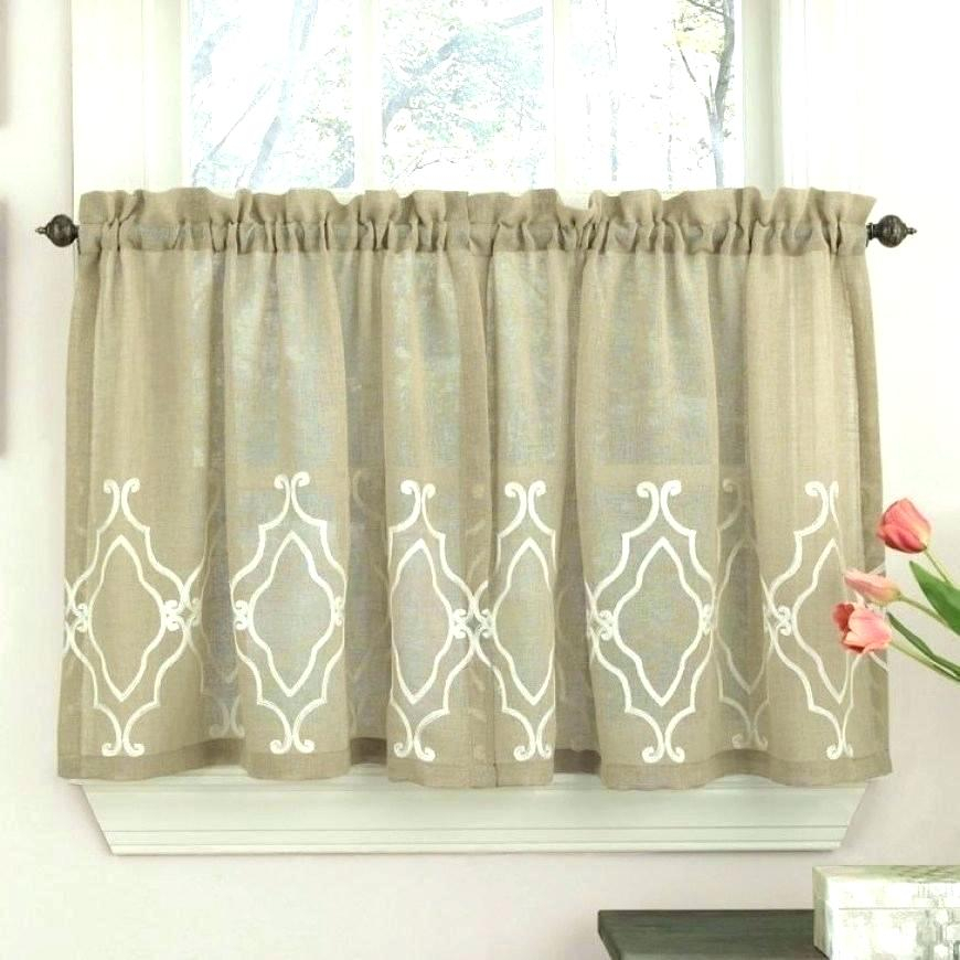 Ivory Lace Nautical Reef Tier Curtain Bathroom Curtains For Within Modern Subtle Texture Solid White Kitchen Curtain Parts With Grommets Tier And Valance Options (View 11 of 50)