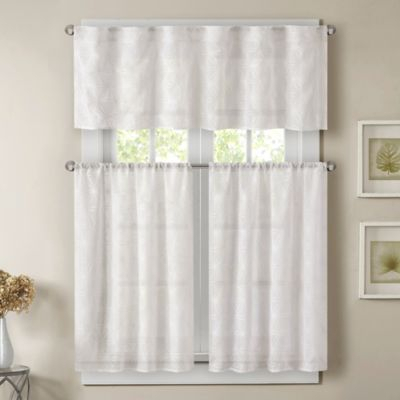 Ivory Micro Striped Semi Sheer Window Curtain Pieces – Tiers Throughout Ivory Micro Striped Semi Sheer Window Curtain Pieces (View 5 of 50)