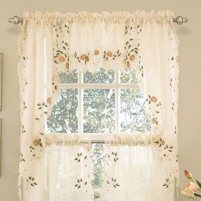 Inspiration about Ivory Micro Striped Semi Sheer Window Curtain Pieces – Tiers Within White Micro Striped Semi Sheer Window Curtain Pieces (#2 of 30)