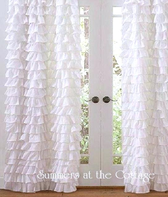 Inspiration about Ivory Ruffle Curtains The Coco Tier Window Curtain Panel Set Within White Ruffled Sheer Petticoat Tier Pairs (#21 of 30)