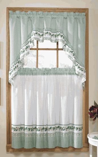Inspiration about Ivy Is A Complete Set Window Set. The Set Includes One Pair With Cotton Blend Ivy Floral Tier Curtain And Swag Sets (#16 of 30)