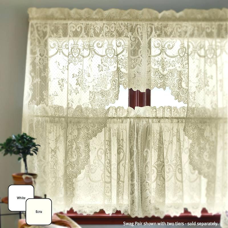 Inspiration about Ivy Swags Grape Garland – Irangram With Cotton Blend Ivy Floral Tier Curtain And Swag Sets (#12 of 30)