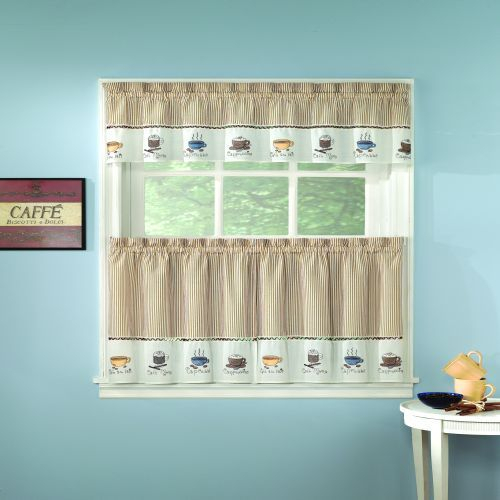 Java Kitchen Curtain | The Fair Home | For The House In Grace Cinnabar 5 Piece Curtain Tier And Swag Sets (View 10 of 30)