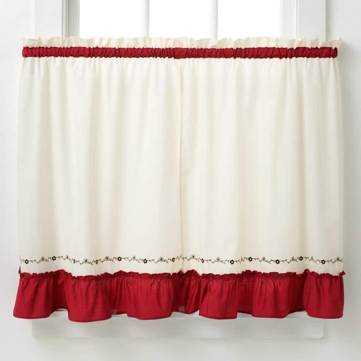Jayden Tier Kitchen Window Curtain Set Regarding Chardonnay Tier And Swag Kitchen Curtain Sets (#26 of 50)