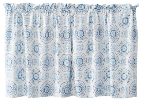 Kali Window Curtains, 57X36 In Seabreeze 36 Inch Tier Pairs In Ocean (View 26 of 30)