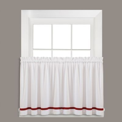 """Kate 24"""" Window Curtain Tier Pair In Berry 