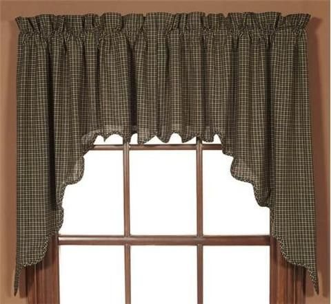 Kettle Grove Scalloped Lined Swag Curtains In 2019 | Swag With Regard To Check Scalloped Swag Sets (View 23 of 30)