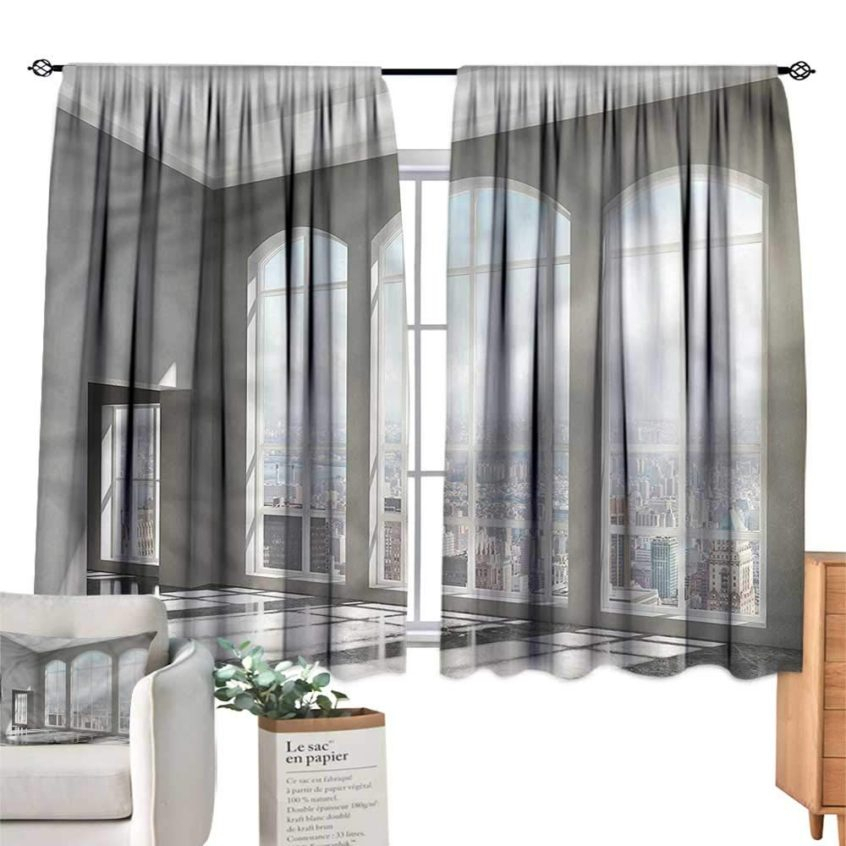 Kitchen: Anzhutwelve Modern Kitchen Curtains Sunset In Ready With Modern Subtle Texture Solid White Kitchen Curtain Parts With Grommets Tier And Valance Options (View 12 of 50)