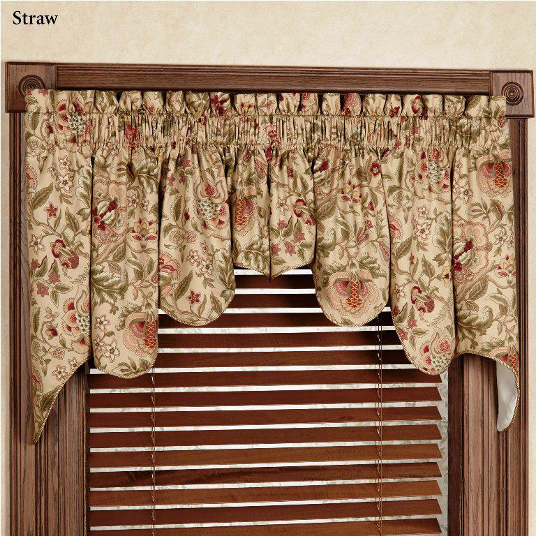Kitchen Curtain Valance Patterns For Bay Windows With With Waverly Felicite Curtain Tiers (#10 of 45)