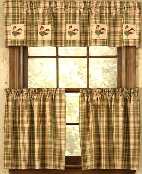 Kitchen Curtains And Valances – Lochnessaccommodation Within Red Rustic Kitchen Curtains (#17 of 30)