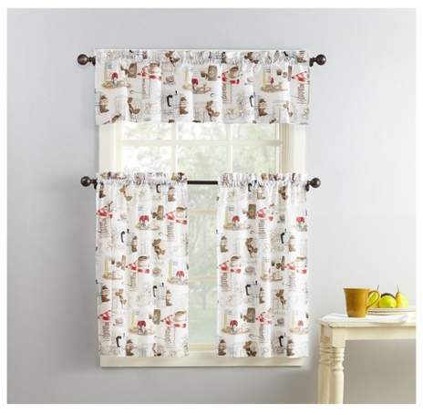 Kitchen Curtains And Valances – Shopstyle For Scroll Leaf 3 Piece Curtain Tier And Valance Sets (View 34 of 50)