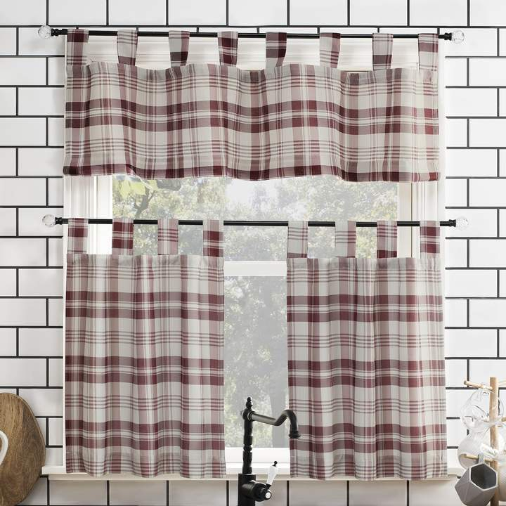 Kitchen Curtains And Valances – Shopstyle Intended For Lodge Plaid 3 Piece Kitchen Curtain Tier And Valance Sets (#18 of 30)