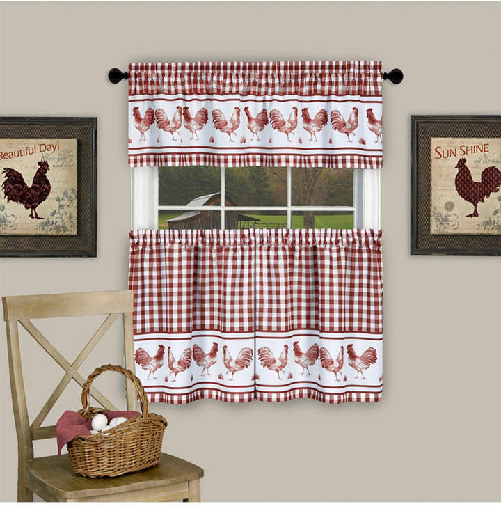 Kitchen Curtains And Valances – Shopstyle Regarding Scroll Leaf 3 Piece Curtain Tier And Valance Sets (View 47 of 50)