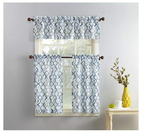 Kitchen Curtains And Valances – Shopstyle Within Lodge Plaid 3 Piece Kitchen Curtain Tier And Valance Sets (#19 of 30)