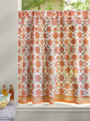 Kitchen Curtains, Cafe Curtains, Tiers, Window Treatment Regarding Cottage Ivy Curtain Tiers (#35 of 49)