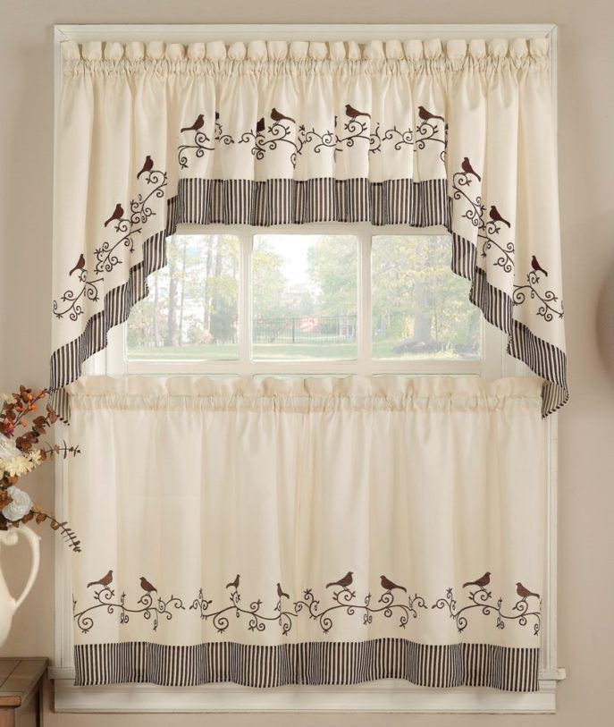 Kitchen Curtains Modern Tags : 23 Kitchen Curtains 19 Modern With Luxury Collection Kitchen Tiers (#22 of 50)