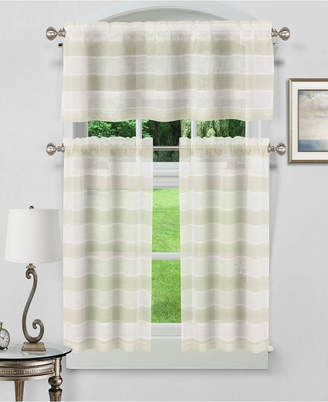 Kitchen Curtains – Shopstyle For Dakota Window Curtain Tier Pair And Valance Sets (#26 of 30)