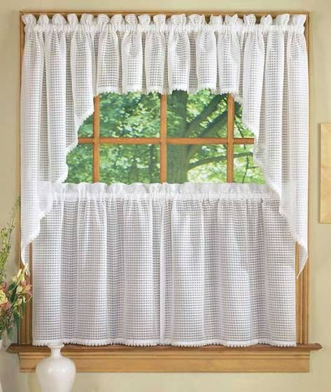 Kitchen Curtains Styles | Curtains, Curtain Styles, Curtain Pertaining To Abby Embroidered 5 Piece Curtain Tier And Swag Sets (View 18 of 30)