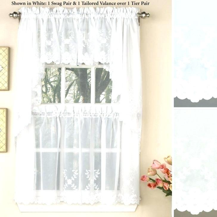 Kitchen Curtains Tiers Valances – Bitcoinecuador Regarding Fluttering Butterfly White Embroidered Tier, Swag, Or Valance Kitchen Curtains (View 17 of 50)