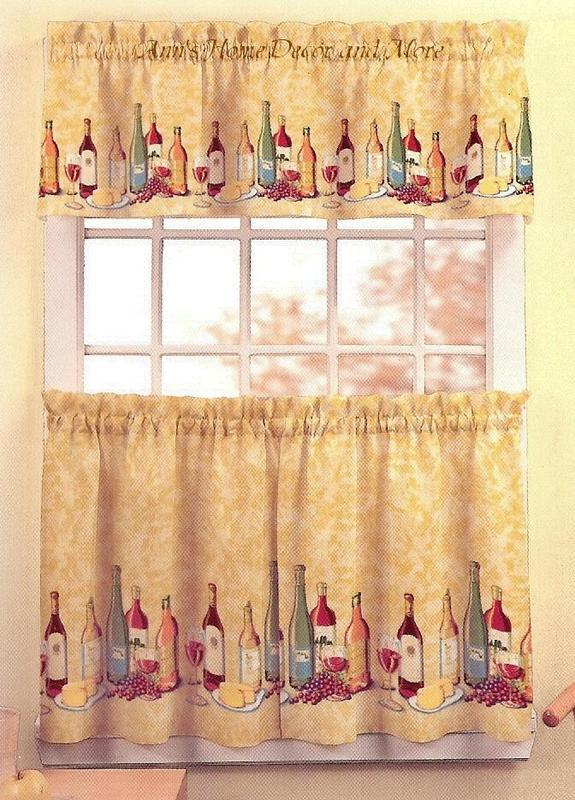 Kitchen Curtains Wine – Martinique Within Chardonnay Tier And Swag Kitchen Curtain Sets (View 29 of 50)