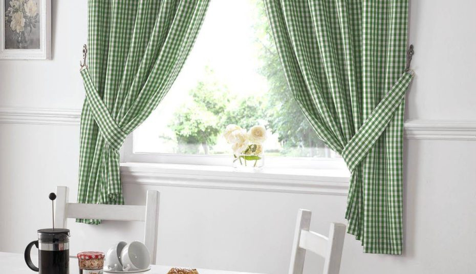 Kitchen Curtains Without Valance And Tiers Plaid Valances Inside Classic Black And White Curtain Tiers (View 23 of 50)