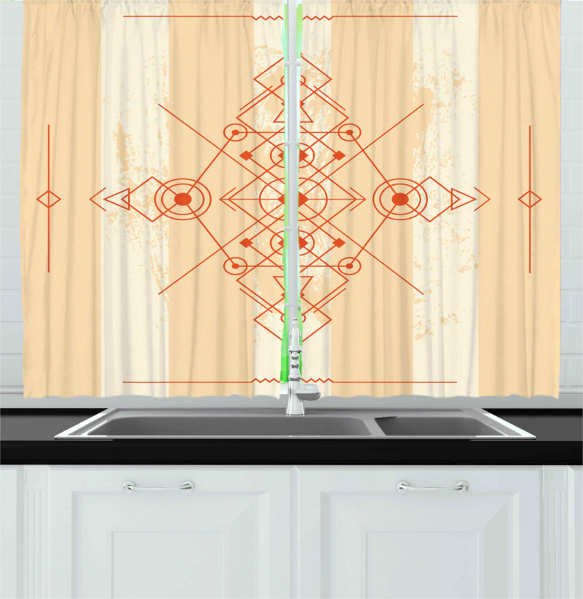Kitchen: Details About Abstract Modern Kitchen Curtains For Modern Subtle Texture Solid White Kitchen Curtain Parts With Grommets Tier And Valance Options (View 13 of 50)