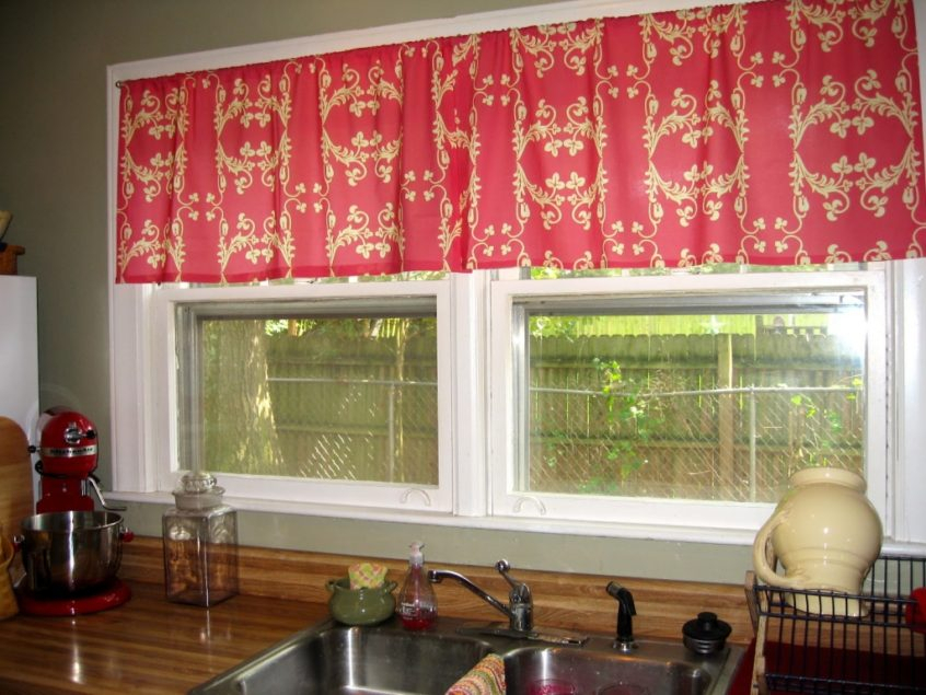 Kitchen: Kitchen Curtains Best Of Ideas Treatment Windows Within Red Rustic Kitchen Curtains (#18 of 30)