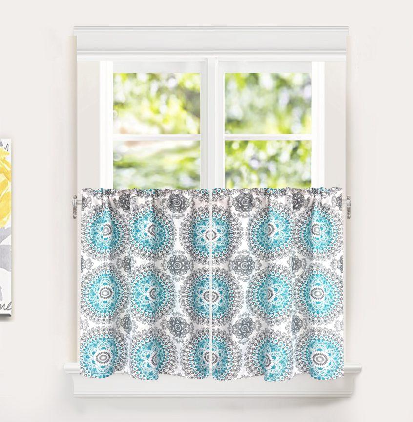Kitchen: Modern Kitchen Curtains Best House Design Coffee With Regard To Sunflower Cottage Kitchen Curtain Tier And Valance Sets (#32 of 50)