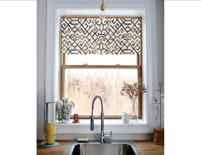 Kitchen: Modern Kitchen Valance Curtains Window Ideas Mid Throughout Modern Subtle Texture Solid White Kitchen Curtain Parts With Grommets Tier And Valance Options (View 16 of 50)